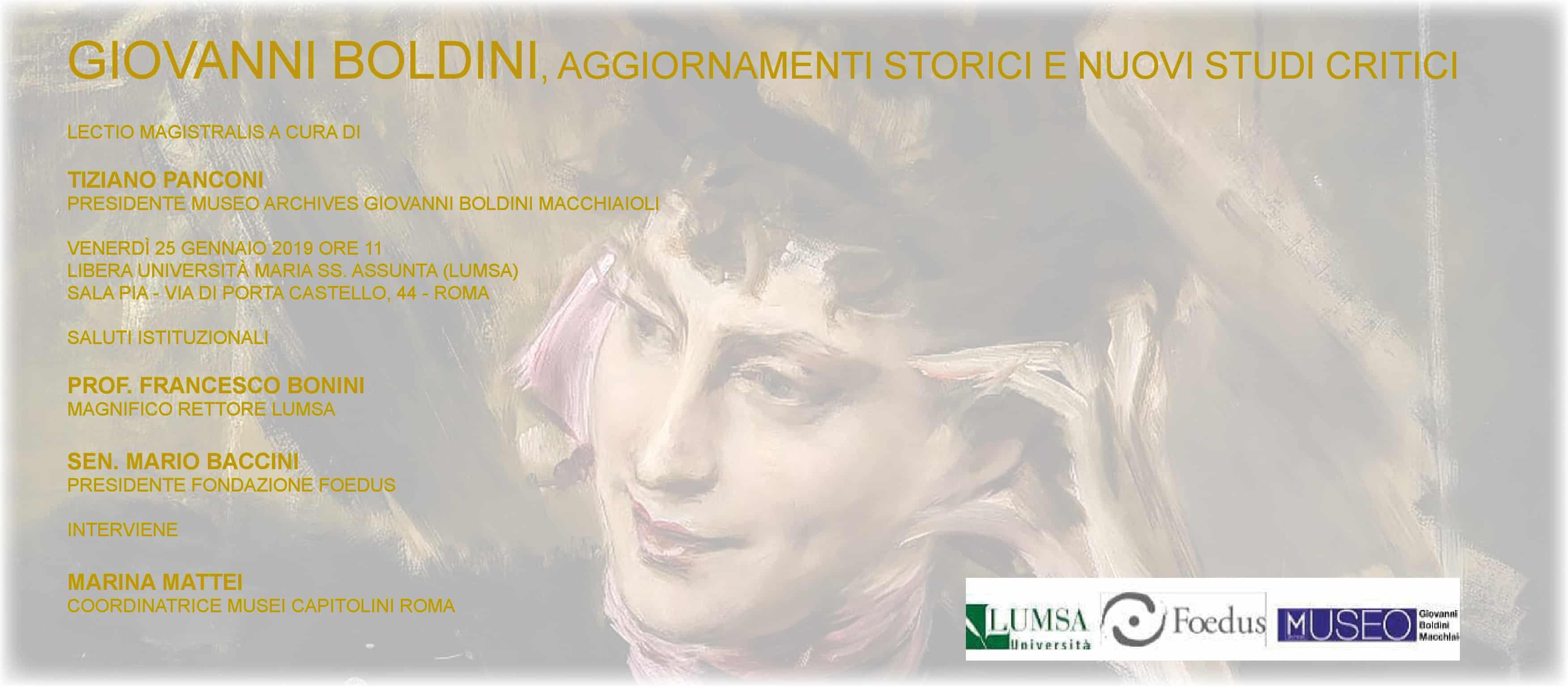 Giovanni Boldini - aggiornamenti storici e nuovi studi critici
